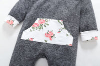 Newborn Baby Girl Floral Long Sleeve Romper Jumpsuit
