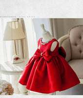 2018 New Baby Girl Red Dress