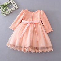 Long-Sleeve Baby Girl Christening or Bridesmaid Gown