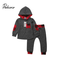 2018 Winter Long Sleeve Hooded Sweatshirt & Pants Outfit