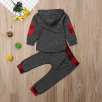 2019 Winter Long Sleeve Hooded Sweatshirt & Pants Outfit