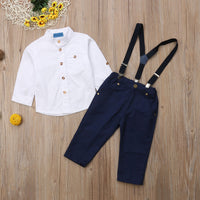 Toddler & Boys Long Sleeve Shirt & Pants Outfit