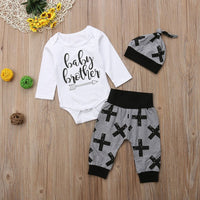 Baby Brother Romper Suit Pants & Hat