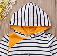 Whale Striped Hooded Top & Long Pants