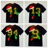(LONG SLEEVE) Christmas Jersey number Tee