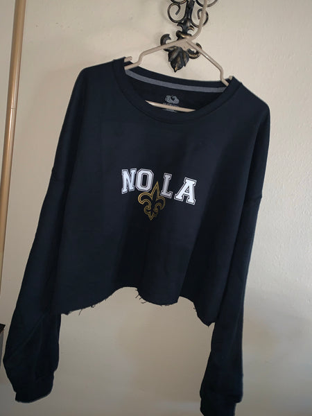 NOLA SWEATSHIRT CROP TOP