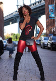 BBNYC Aluminum Collection; Women's V-Neck - Red