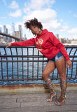 BBNYC Aluminum Collection RED & Gold Hoodie