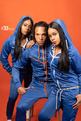 """Run Da Track Suit"" Blue and Orange"