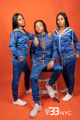 """Run Da Track Suit"" Blue and White"