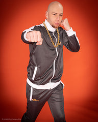 B-Boy Tracksuit - Grey White & Orange
