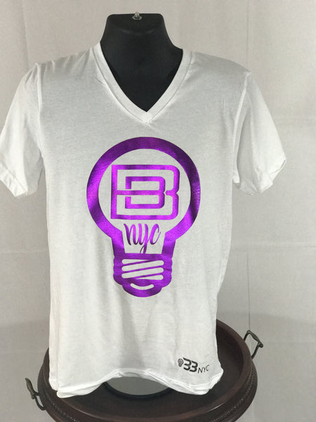 BBNYC Aluminum Collection - White w/ Purple Foil