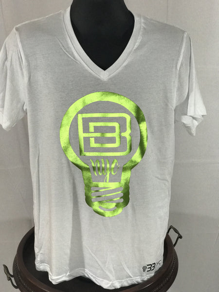 BBNYC Aluminum Collection - White / Lime Green Foil