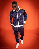 B-Boy Tracksuit - Navy Blue  White & Orange