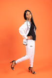Run Da Track Suit - White - n - Red