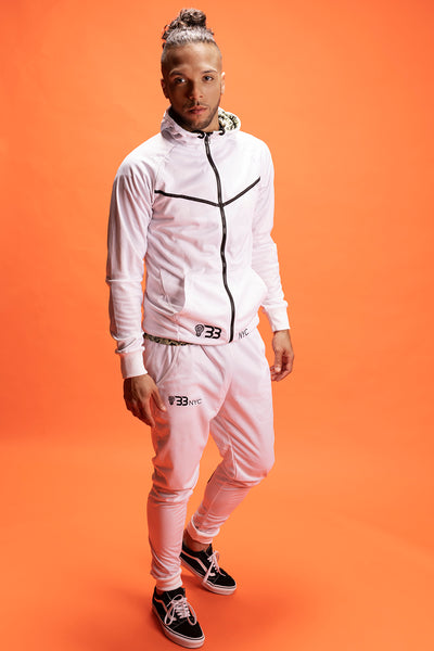 Run Da Track Suit - White - n - Black