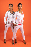 Run Da Track Suit - White - n - Orange