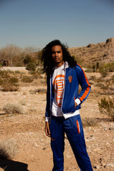 B-Boy Tracksuit - Blue White & Orange (Embroidered & Lined)