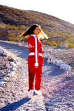B-Boy Tracksuit - Red & White (Embroidered & Lined)