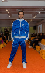 B-Boy Tracksuit - Blue & White (Embroidered & Lined)