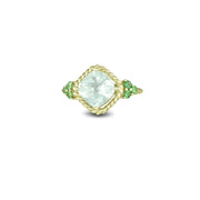 10K Yellow Gold Green Amethyst and Tsavorite Ring