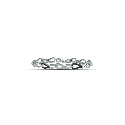 STERLING SILVER DIAMOND ACCENT BRACELET WITH BLACK RHODIUM