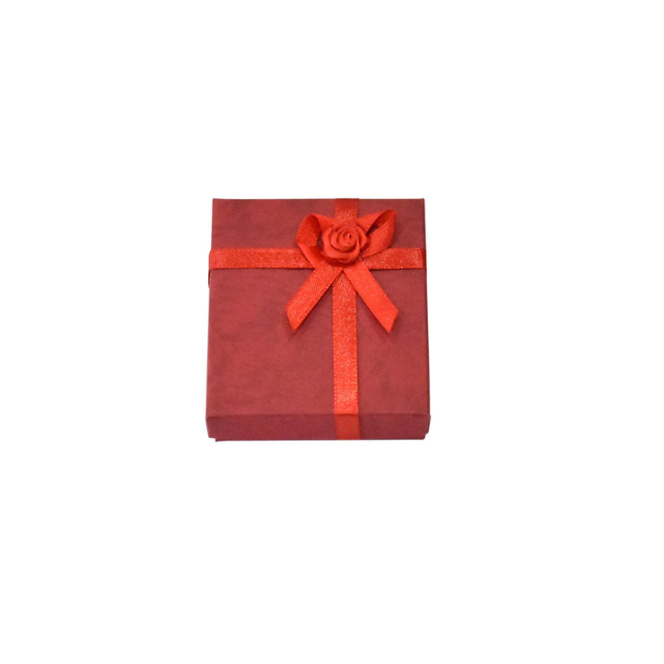 Red Paper Earring/Necklace Gift Box