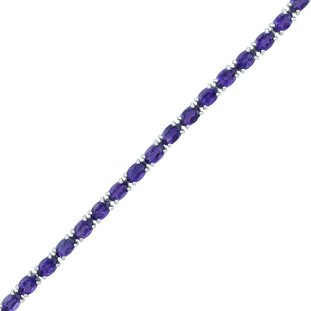 Amethyst and Diamond Bracelet with Flower Lock