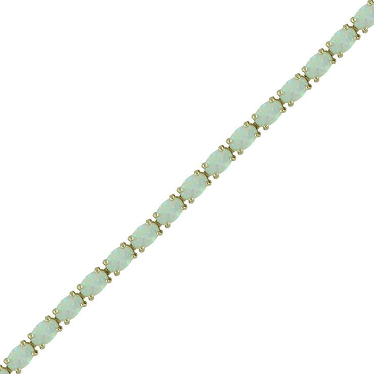 Created Opal Fashion Tennis Bracelet in 10K Yellow Gold