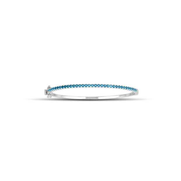 Blue Topaz Fashion Bangle in Sterling Silver