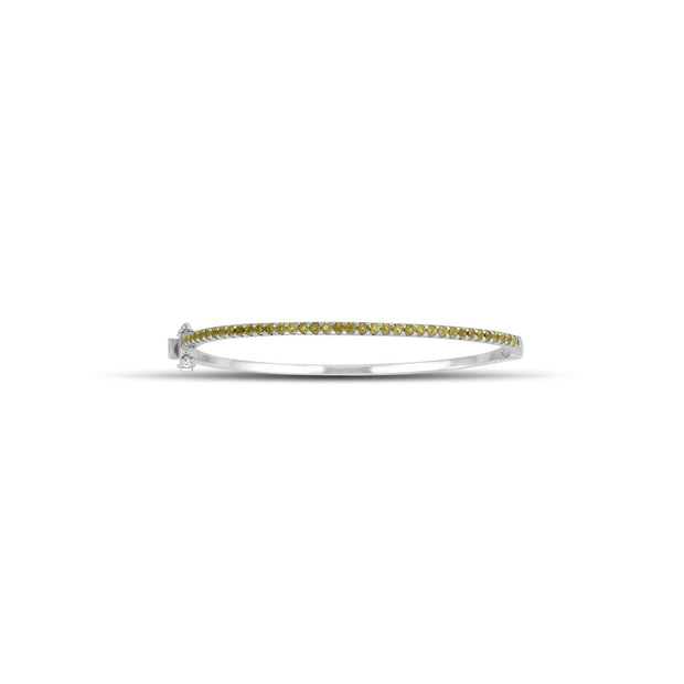 Round Citrine Fashion Bangle in Sterling Silver
