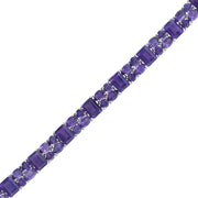 Amethyst Fashion Tennis Bracelet in Sterling Silver