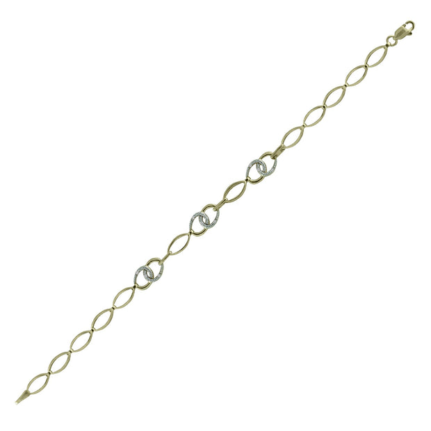 Diamond Accent Fashion Bracelet in 10K Yellow Gold