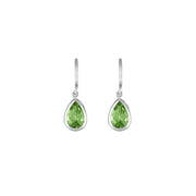 Peridot Dangle Earrings in Sterling Silver