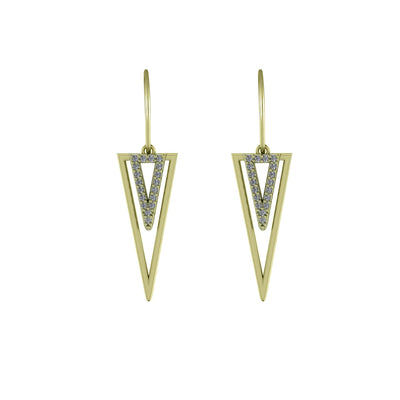 Diamond Accent Fashion Earrings in 10K Yellow Gold