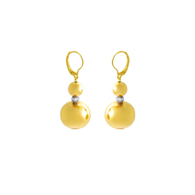 14K Yellow Gold and Diamond Innovoro® Lightweight Dangle Earrings