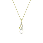 Diamond Accent Fashion Pendant in 10K Yellow Gold
