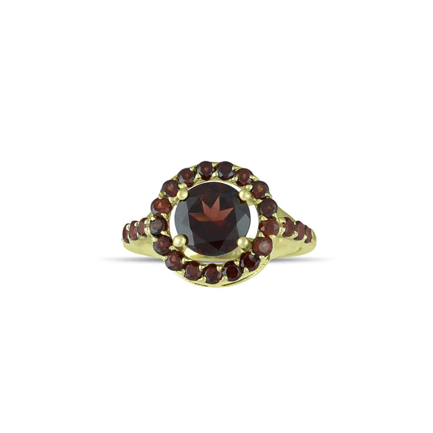 10K Yellow Gold Multi-Stone Garnet Fashion Ring