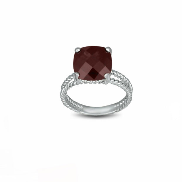 Garnet Fashion Ring in Sterling Silver