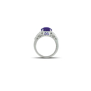 Amethyst and White Topaz Fashion Silver Ring