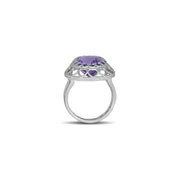 Pink Amethyst Fashion Ring in Sterling Silver