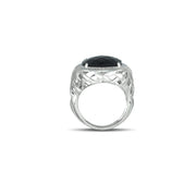 Black Onyx and Diamond Accent Fashion Ring