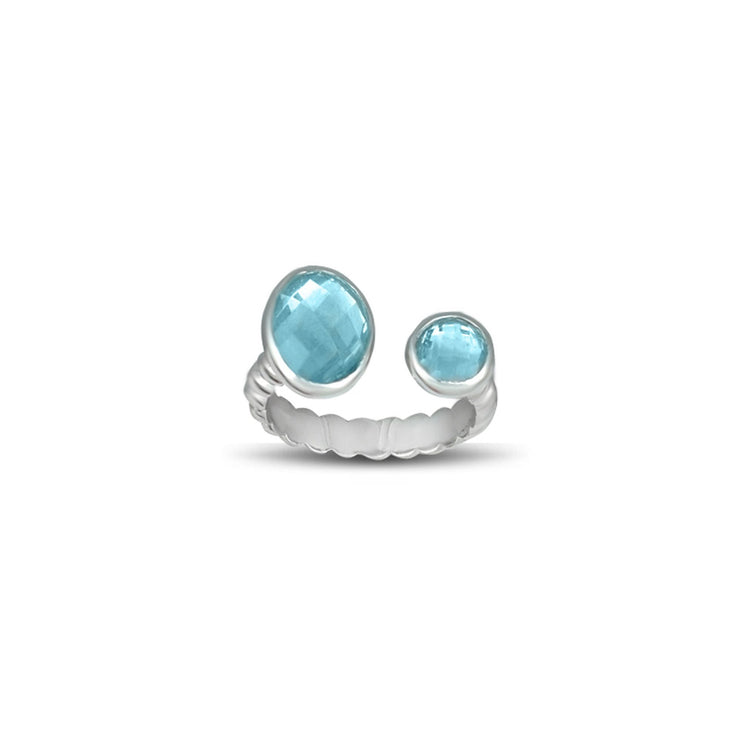 Blue Topaz Fashion Ring in Sterling Silver