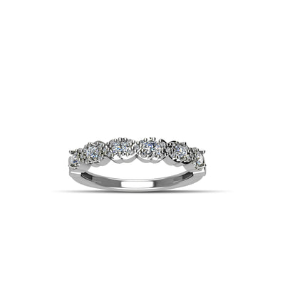 Cubic Zirconia Fashion Stackable Band Ring in Sterling Silver