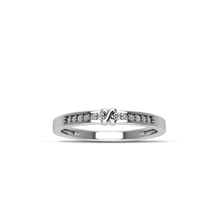 Cubic Zirconia Fashion Stackable Ring in Sterling Silver