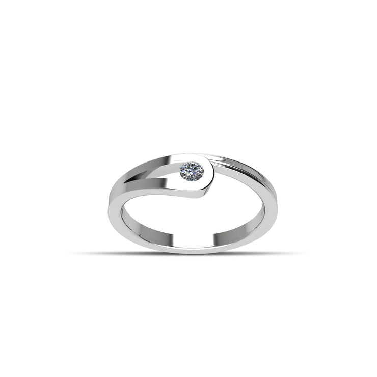 Cubic Zirconia Fashion Ring in Sterling Silver