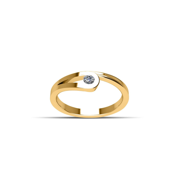 14K Gold-Plated over Sterling Silver Cubic Zirconia Fashion Ring