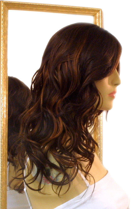 Forever Young Hollywood Honey Wig Color Coffee Bean Brown Red