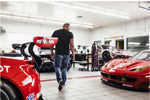 Andy looking at Ferraris