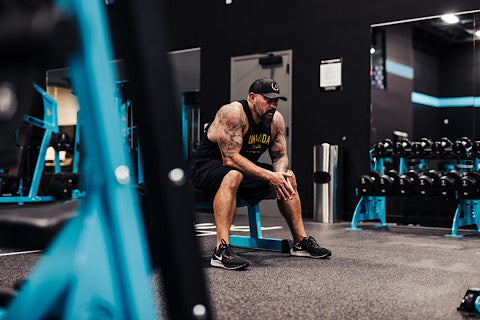Andy working out